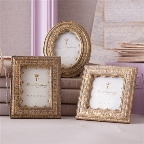 Delicate Vermeil Ornate Gold Photo Frames