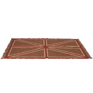 Small Brown Union Jack Rug