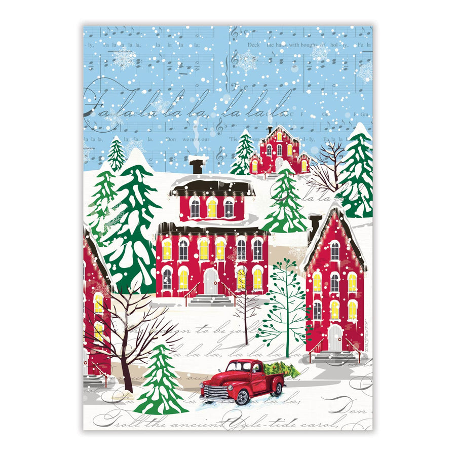 """Deck the Halls"" Kitchen Towel"