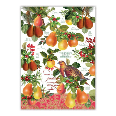 "Michel Design ""In a Pear Tree"" Kitchen Towel - Set of 2"