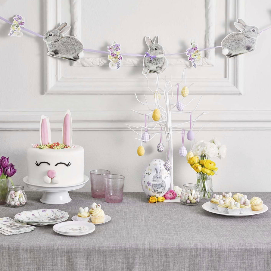 Truly Bunny Paper Plates - Lilac