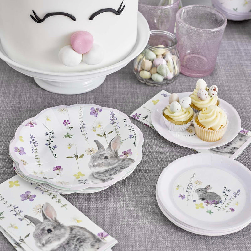 Talking Tables Truly Bunny Paper Plates Lilac - Le Petite Putti Party Canada