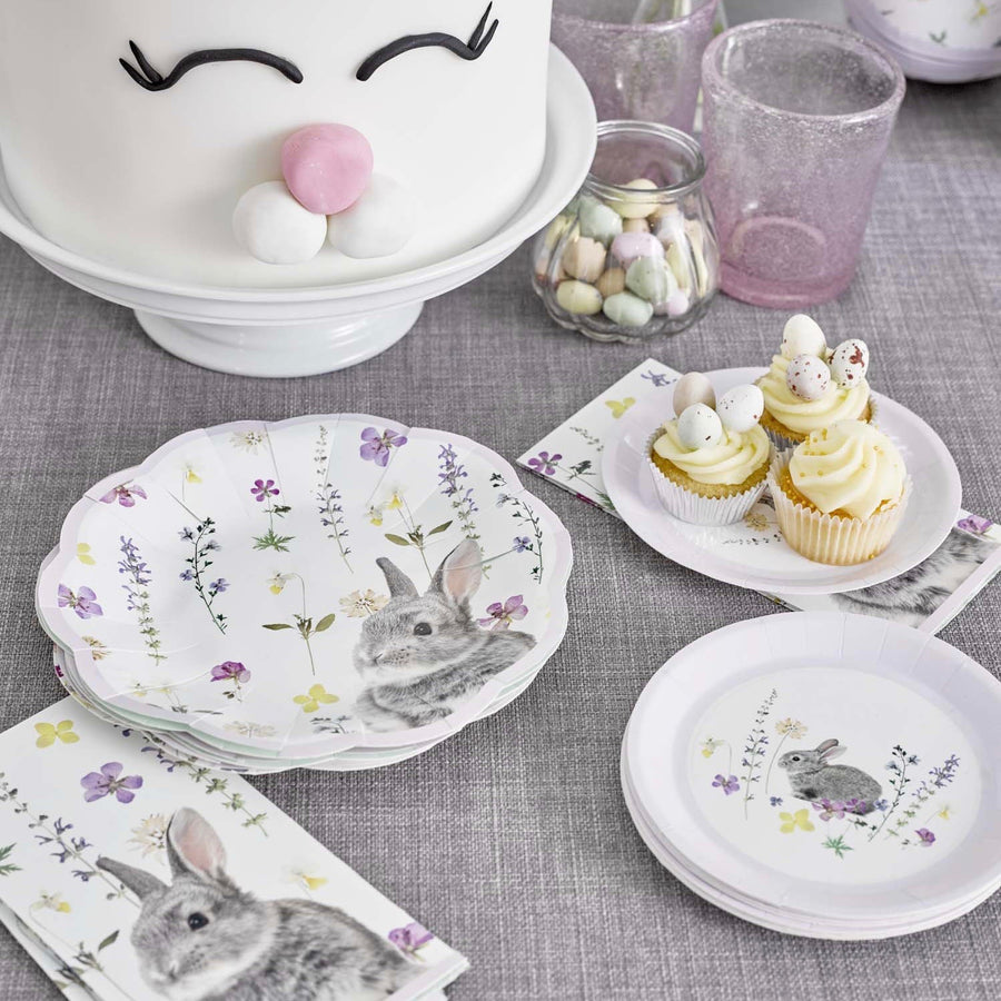 Truly Bunny Canape Plates - Lilac