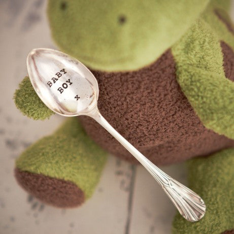 """Baby Boy"" Vintage Tea Spoon -  Flatware - La De Da Living - Putti Fine Furnishings Toronto Canada"