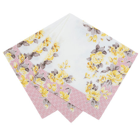 Truly Scrumptious Floral Luncheon Napkins -  Party Supplies - Talking Tables - Putti Fine Furnishings Toronto Canada - 3