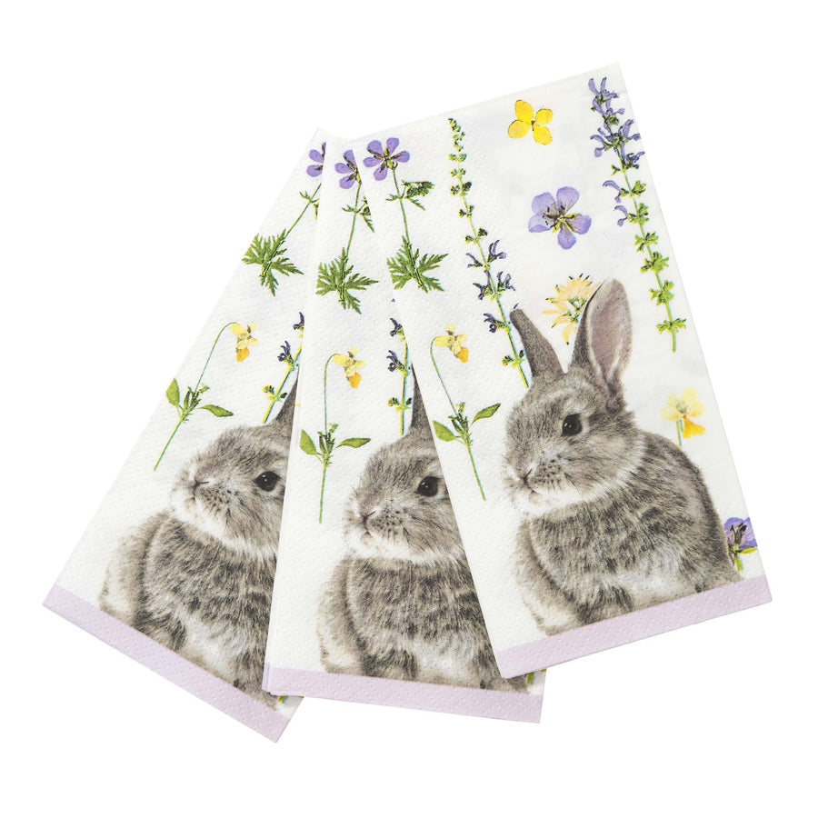 Truly Bunny Paper Napkins - Lilac