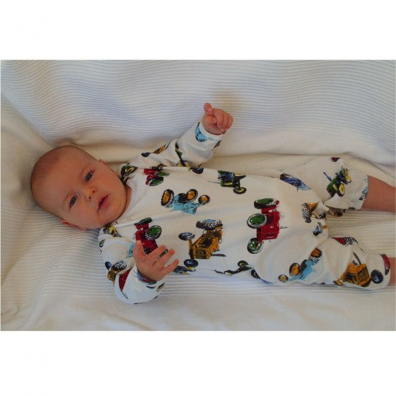 Vintage Tractor Jumpsuit-Children's Clothing-PC-Powell Craft Uk-0 to 6 month-Putti Fine Furnishings