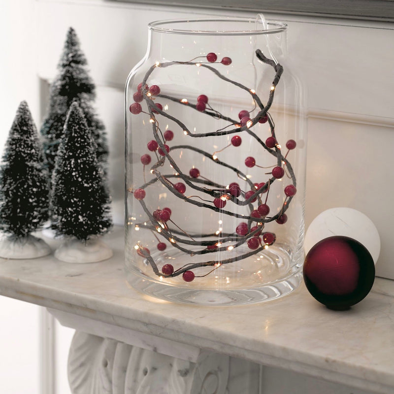 Botanical Christmas Berry String Lights