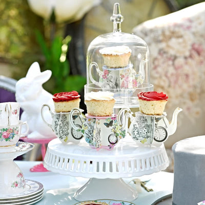 Truly Alice Teapot Cake Stands -  Party Supplies - Talking Tables - Putti Fine Furnishings Toronto Canada - 4