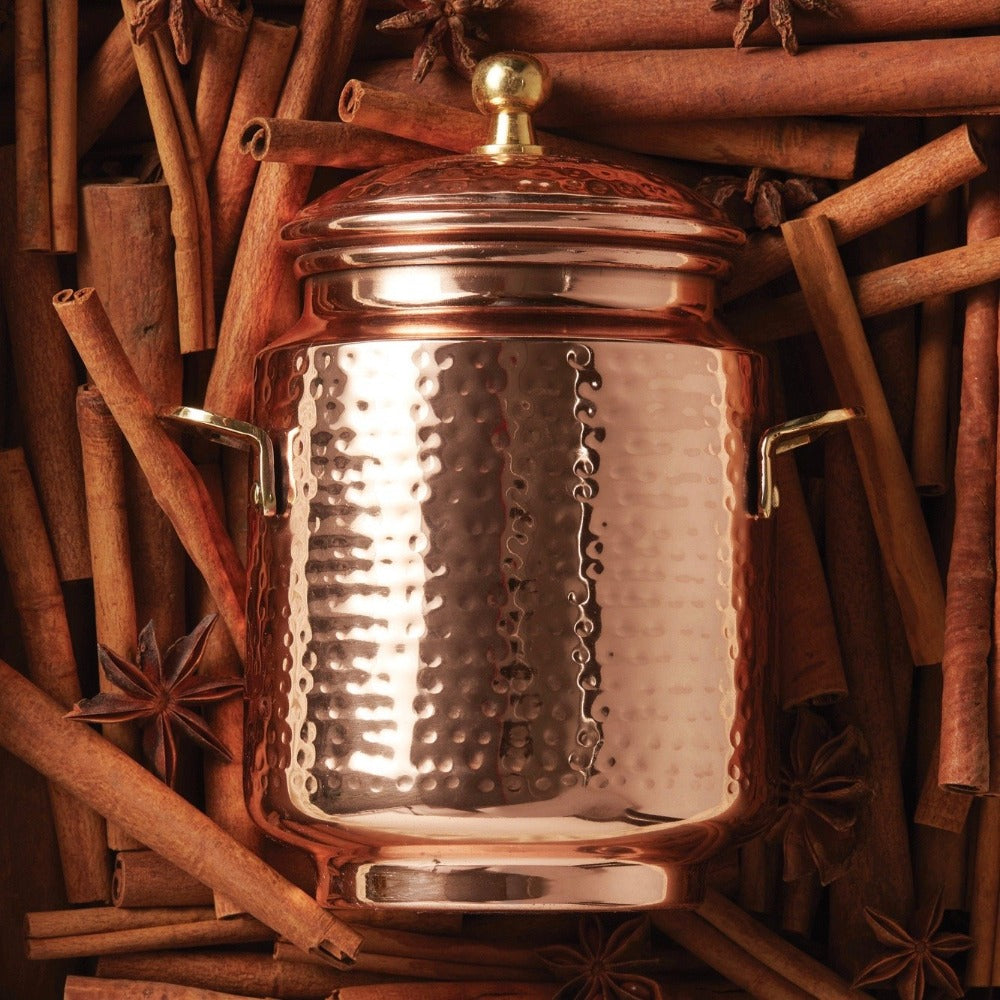 Thymes Simmered Cider Tall Copper Pot Candle