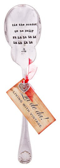 """Tis the season to be jolly..."" Vintage Serving Spoon-Hand Stamped Vintage Cutlery-LDD-La De Da Living-Putti Fine Furnishings"