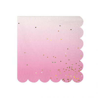 "Meri Meri ""Toot Sweet"" Ombre Small Paper Napkins -  Party Supplies - Meri Meri UK - Putti Fine Furnishings Toronto Canada - 3"