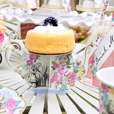 Truly Alice Teapot Cake Stands -  Party Supplies - Talking Tables - Putti Fine Furnishings Toronto Canada - 3