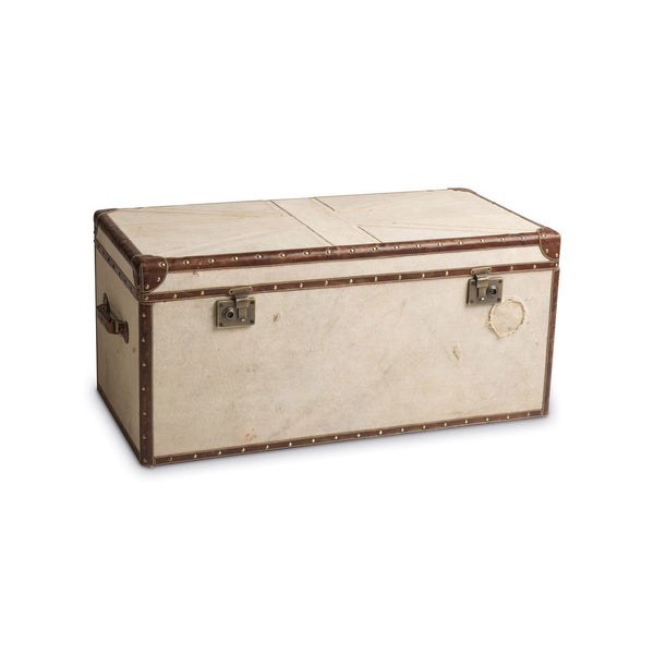 Union Jack Canvas Coffee Table Trunk -  Trunks - Culinary Concepts London - Putti Fine Furnishings Toronto Canada