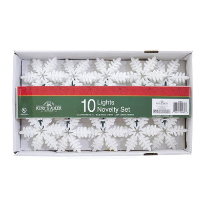 Kurt Adler Snowflake Light Set | Putti Decorations