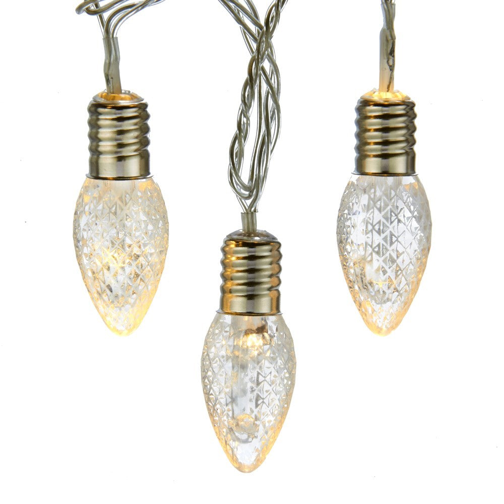 Kurt Adler Transparent Grid Bulb LED Light Set | Putti Christmas Canada