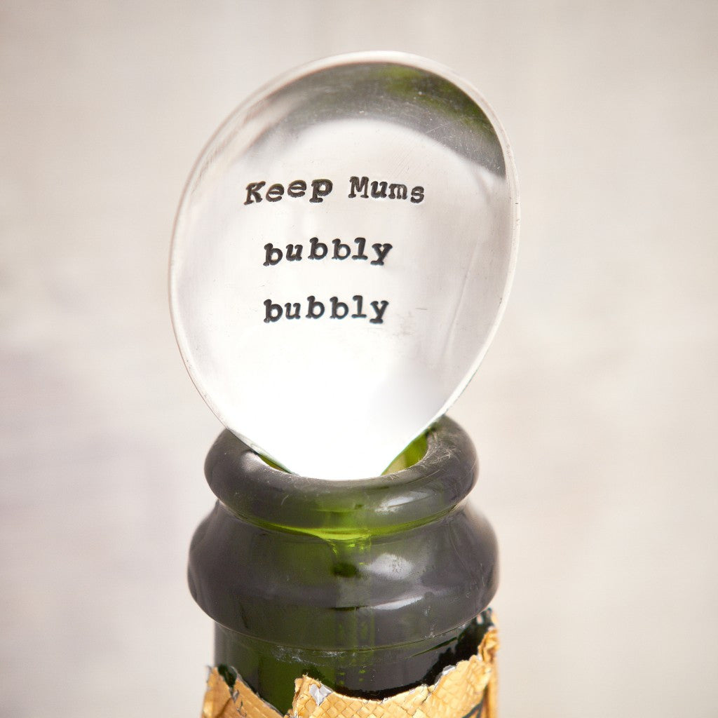 """Keep Mums bubbly bubbly"" Vintage Champagne Spoon -  Flatware - La De Da Living - Putti Fine Furnishings Toronto Canada - 1"