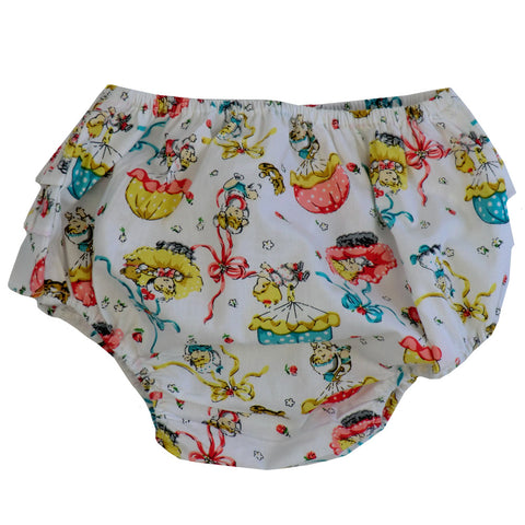 """Vintage Baby"" Print Frilly Nickers-Children's Clothing-PC-Powell Craft Uk-One Size 0-12 months-Putti Fine Furnishings"