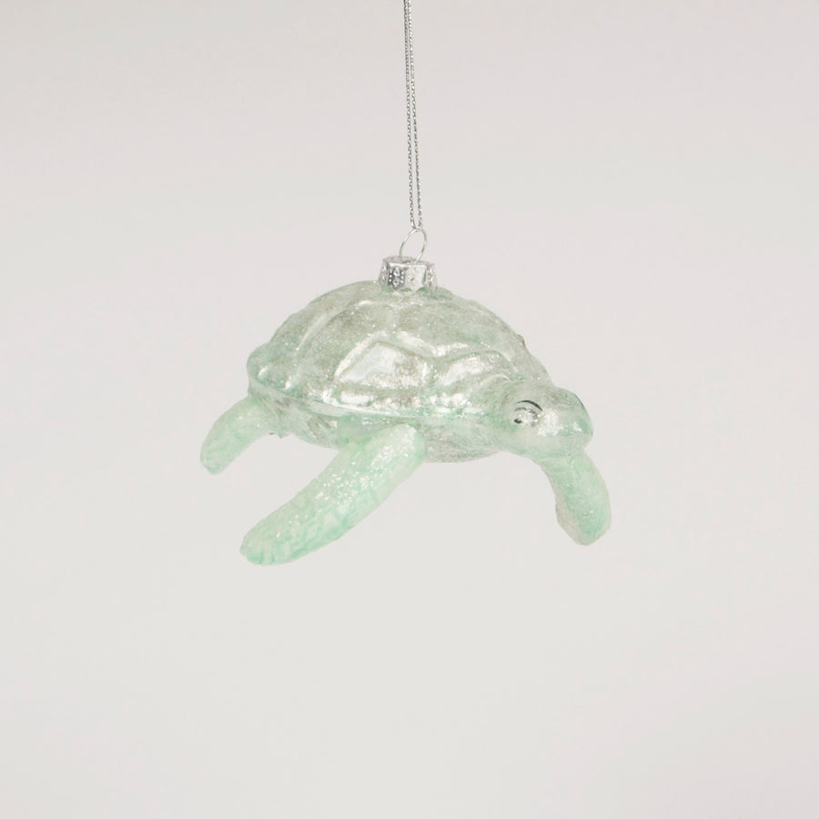 Enchanted Turtle Glass Ornament