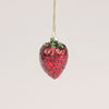 Glass Strawberry Ornament - Putti Christmas Canada