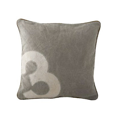 Canvas Polo Number Cushions -  Soft Furnishings - Culinary Concepts London - Putti Fine Furnishings Toronto Canada - 3