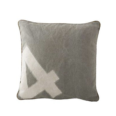 Canvas Polo Number Cushions -  Soft Furnishings - Culinary Concepts London - Putti Fine Furnishings Toronto Canada - 4