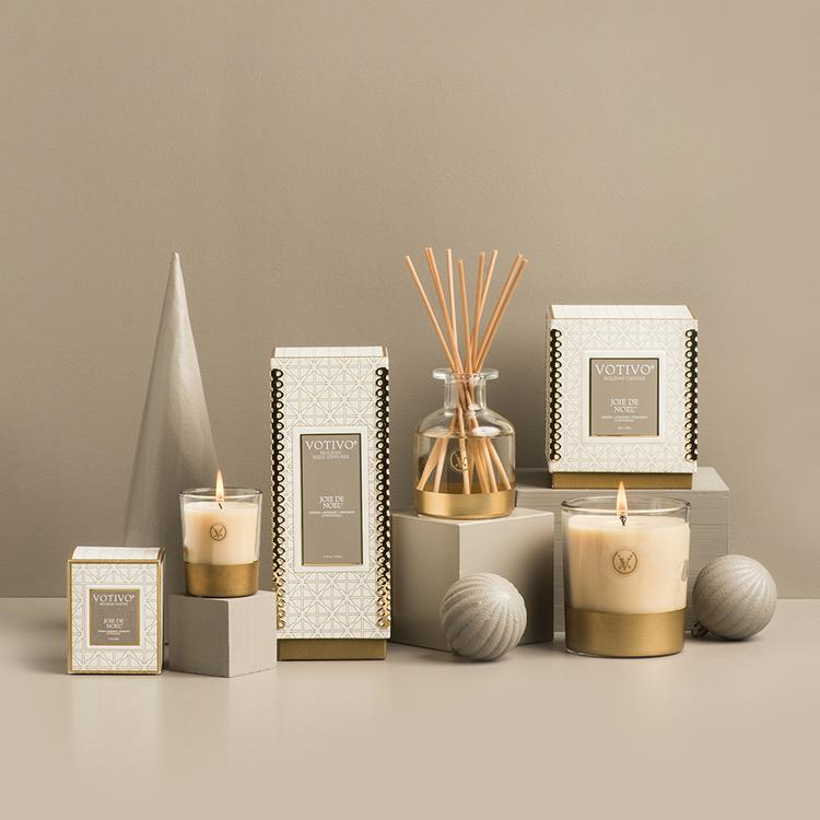 Votivo Holiday Candle - Joie de Noel - Putti Fine Furnishings Canada