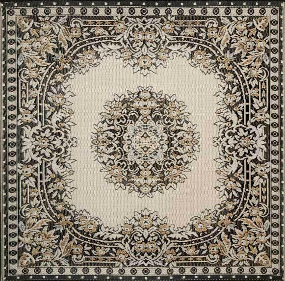 Mad Mats Outdoor Carpet Versailles-Outdoor Carpets-MMAT-Mad Mats-Black & Tan-Putti Fine Furnishings