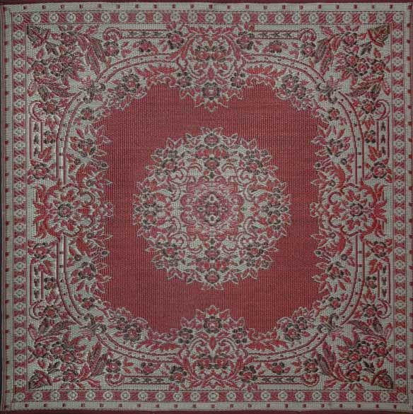 Mad Mats Outdoor Carpet Versailles-Outdoor Carpets-MMAT-Mad Mats-Brown & Cranberry-Putti Fine Furnishings