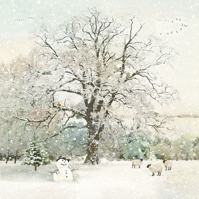 """Snowman Field"" Christmas Card - Individual Card Christmas - Incognito - Putti Fine Furnishings Toronto Canada"