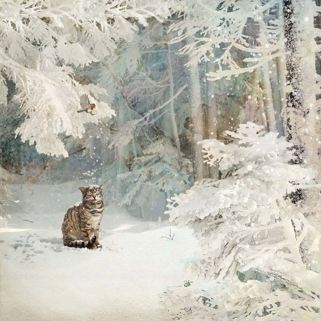 """Christmas Cat"" Christmas Card 