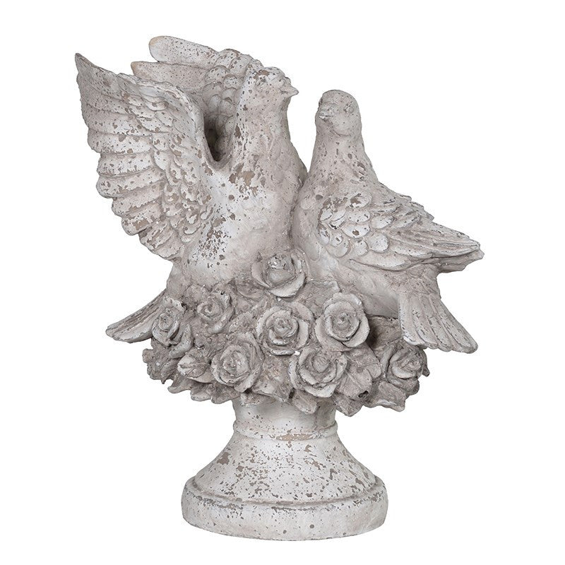 Pair of Pigeons Cast Sculpture -  Accessories - Coach House - Putti Fine Furnishings Toronto Canada