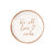 "Talking Tales ""We all Love Cake"" Rose Gold Metallic Paper Canapé Plates 