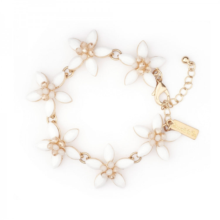 Lovett & Co. White Coventry Flower Bracelet
