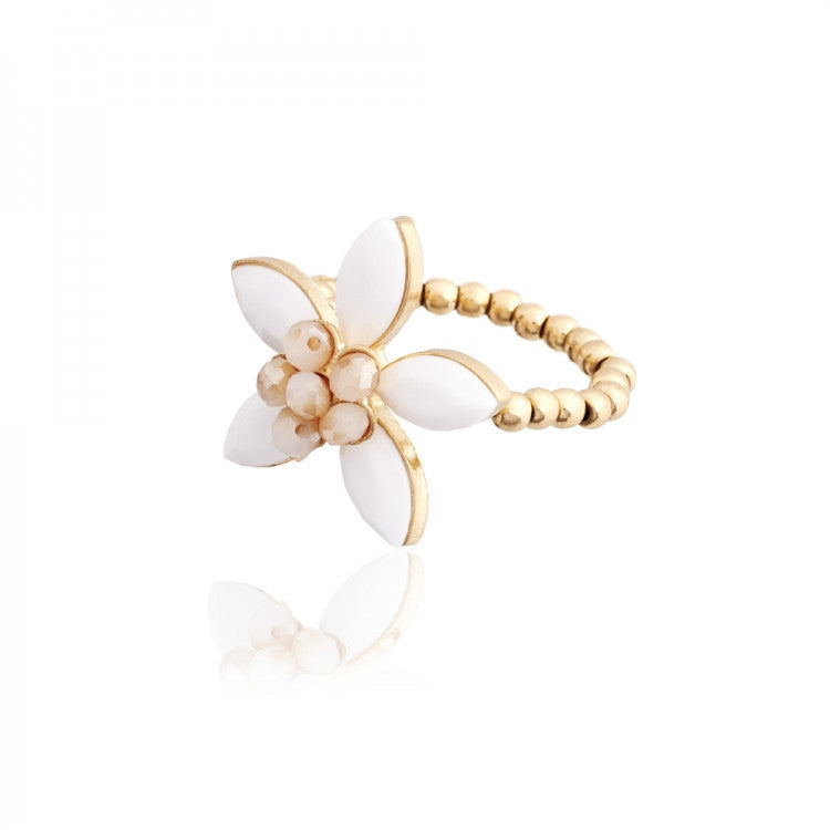Lovett & Co. White Coventry Flower Ring