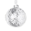 Clear Glass Ball Ornament with White Lace and Pearls -  Christmas Decorations - Christmas Tradition - Putti Fine Furnishings Toronto Canada