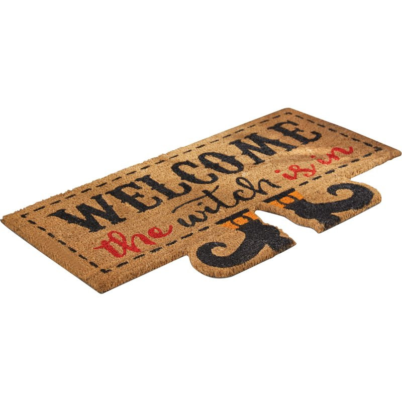 """Welcome the witch is in"" Door Mat, MP-Mud Pie, Putti Fine Furnishings"