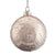 Pearl Pink with White Glitter Snowflakes Glass Ball Ornament | Putti Christmas Canada