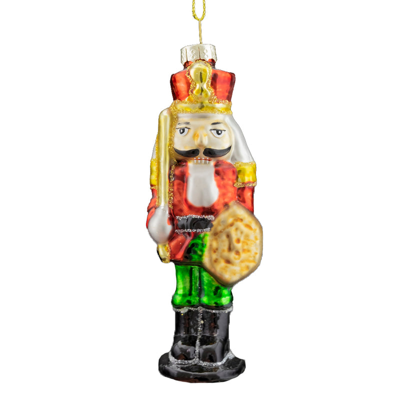 Nutcracker with Sword Glass Ornament | Putti Christmas Decorations