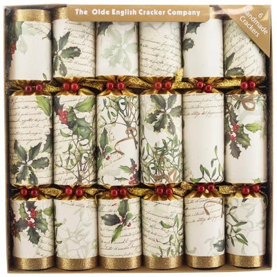 Robin Reed Holly and Mistletoe Christmas Crackers | Putti Christmas