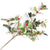 Variegated Holly with Red Berries Spray Pick | Putti Christmas Decorations
