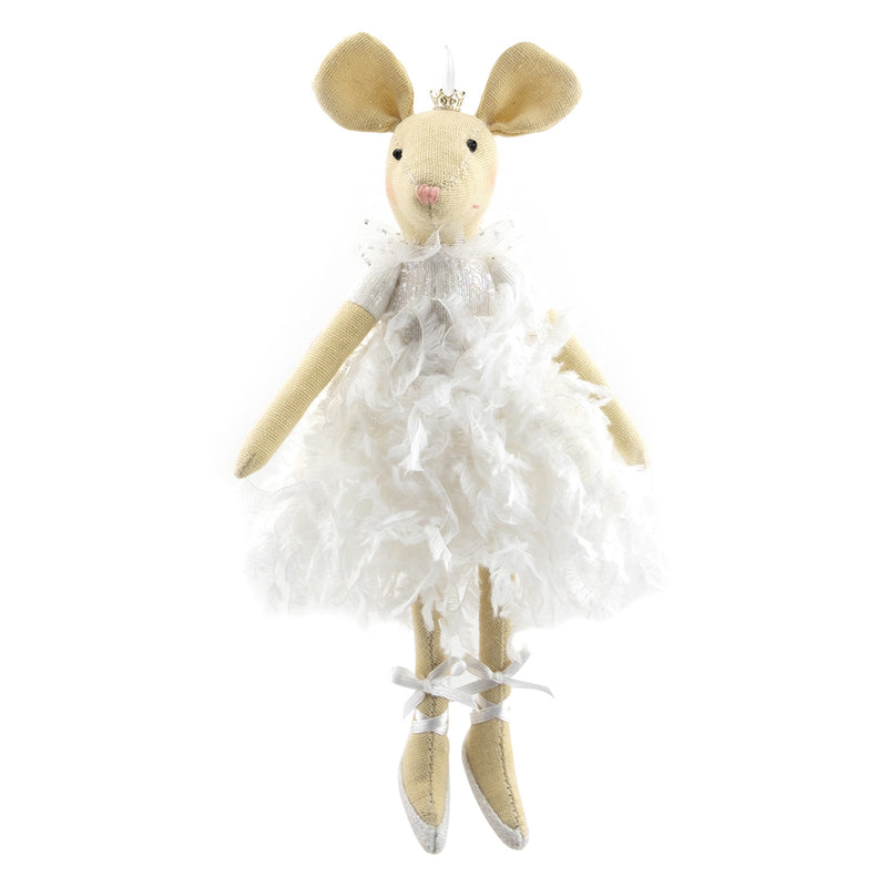 Fabric Ballerina Mouse  Ornament | Putti Christmas Canada
