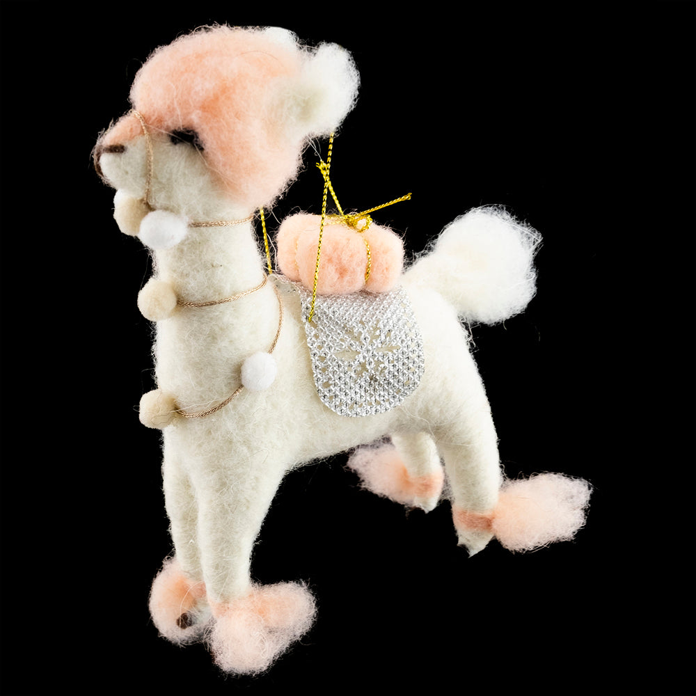 Llama with Pom Pom Felt Ornament