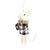 Black and White Buffalo Check Felt Mouse Ornament | Putti Christmas Canada