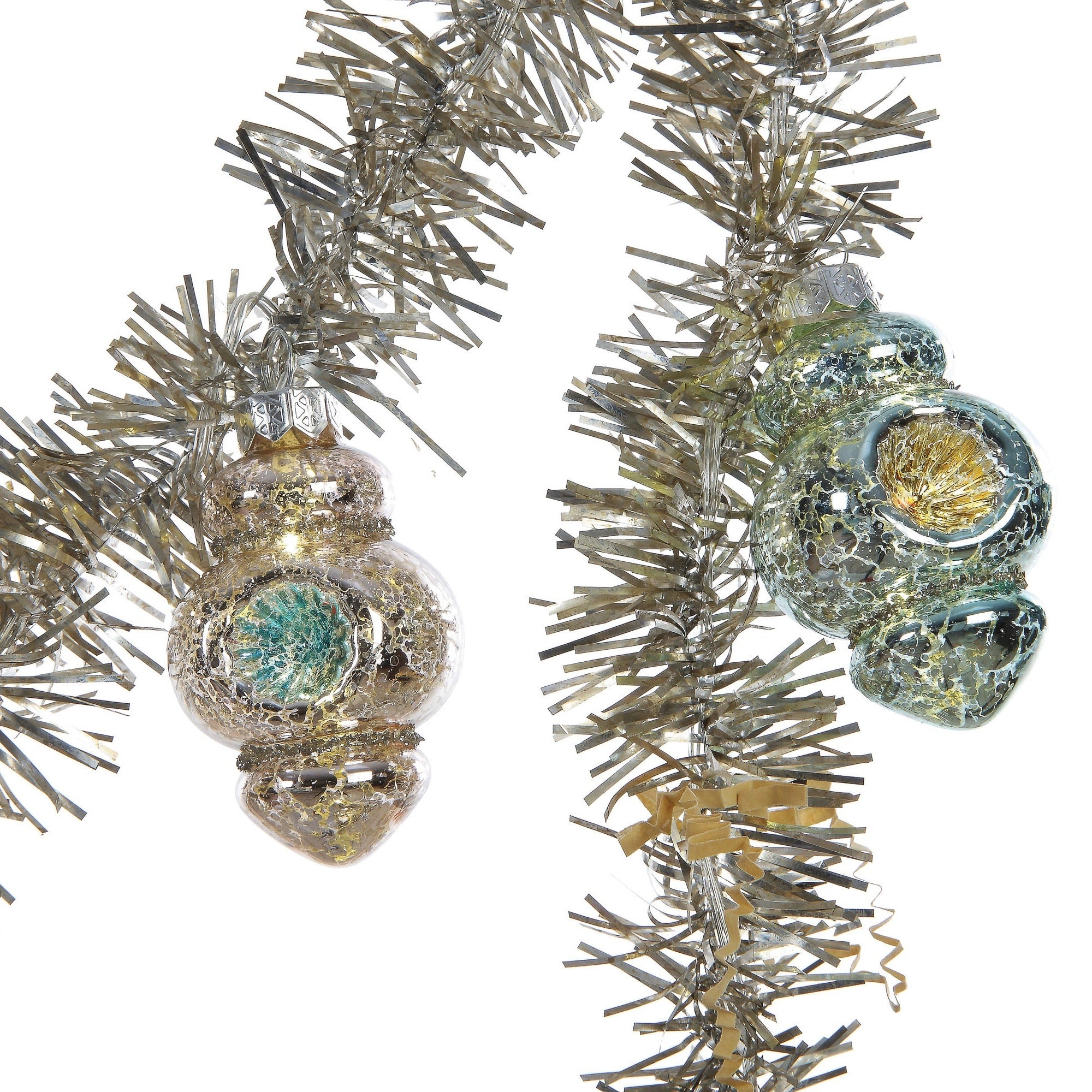 Tinsel Garland with Glass Ornaments | Putti Christmas Celebrations