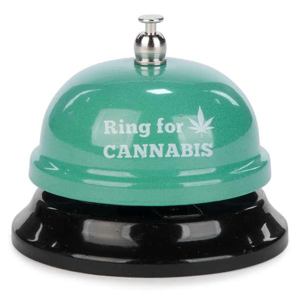 """Ring for Cannabis"" Aqua Bar Bell"