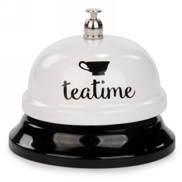 """Teatime"" White Counter Bell"