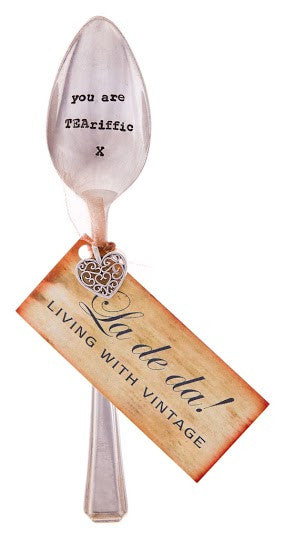 """You are TEAriffic"" Vintage Tea Spoon -  Flatware - La De Da Living - Putti Fine Furnishings Toronto Canada - 1"