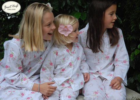 """Rosie"" Floral Pajamas-Nightwear-PC-Powell Craft Uk-Age 1-2 (Special Order 2 weeks)-Putti Fine Furnishings"