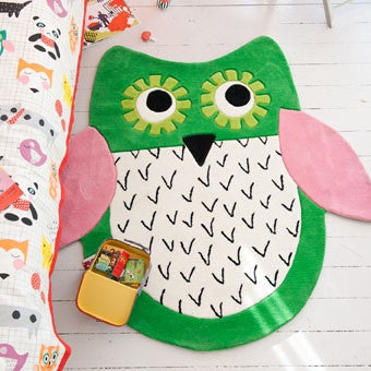Designers Guild Little Owl Emerald Kid's Rug